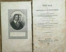 1826 POESIES: VOYAGE de Chapelle et de Bachaumont, Poésies Diverses - 6848