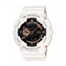 NEW G-Shock Men's Watch White-Gold Dial Resin Chronograph GA110RG-7A