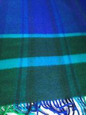 """Roros Tweed noruego 100% Lana Lana Con Flecos Manta/Cobertor De 55"""" X 72"""""""