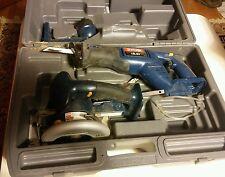 000 Ryobi 18.0v Power Tool Set & Case Skil Saw Sawzall Flashlight No Batteries
