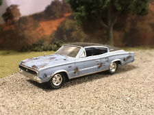 1966 Dodge Charger Rusty Weathered Custom 1/64 Diecast Car Barn Find Mopar Rust