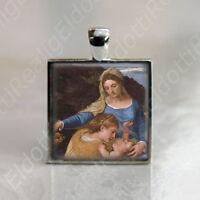 St. Catherine with Madonna & Baby Jesus Catholic Medal Virgin Mary Pendant