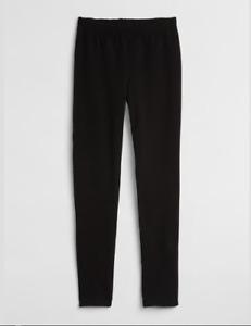 Gap Girls Terry Lined Black Full Length Legging Pants New in Package Sz Medium
