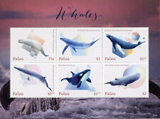 Palau 2018 MNH Whales Killer Humpback Blue Whale 6v M/S Marine Animals Stamps