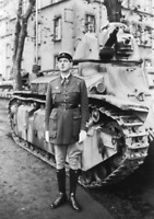 Photo colonel Charles De Gaulle 507 régiment de chars de combat D2 10x15 cm n263