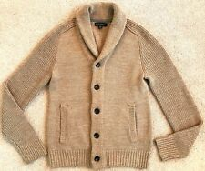 BANANA REPUBLIC MENS CAMEL WOOL SHAWL COLLAR CARDIGAN $168 M