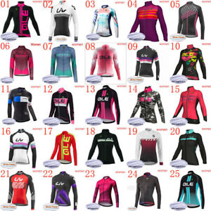 2021 Winter cycling clothing women thermal fleece bike jersey long sleeve Shirts
