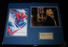 Emma Stone Signed Framed 16x20 Photo Set Amazing Spider-Man Gwen