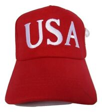 45th President Donald Trump USA American Red Embroidered Cap Hat