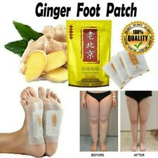 10 Detox Foot Pads Ginger Extract Toxin Removal Anti-Swelling Weight Loss Patch