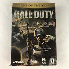 Call of Duty (PC, 2003) Activision, Infinity Ward Complete Box Manual, Disc, CIB