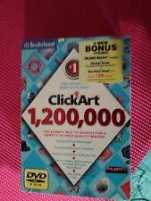 BRODERBUND CLICK ART 1,200,000 P C DVD ROM SOFTWARE FOR MICROSOFT  WINDOWS  XP