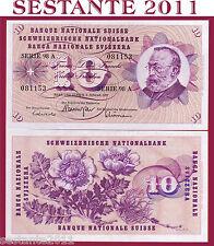 SWITZERLAND / SVIZZERA - 10 FRANKEN 6.1. 1977 sign. 46   - P 45u - FDS / UNC
