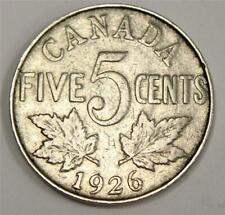 1926 Far 6  Canada 5 Cents nice F12