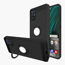 For Samsung Galaxy A51 A71 4G Case Magnetic Ring Stand Cover+Full Tempered Glass