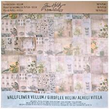 "Tim Holtz Idea-ology 12""x12"" Vellum Paper Stash - Wallflower"