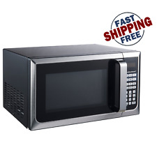 Countertop Microwave Stainless Steel Home Office LED Oven 900W 0.9 Cu Ft.