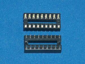 Ic-Socket / Ic Sockets, 18-polig (Narrow), Doppelfederkontakt, Amount as Desired