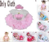22'' Bebe Reborn Neonatal Boy Girl Doll Dress Baby Clothes Up Gift Handmade Toys