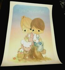 """Vintage Jonathan & David Precious Moments Poster """"Love One Another"""" ~ P102"""