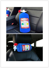 NOS Nitrous Oxide Car Travel Headrest Hold Pillow Bottle Cushion Plush Toy Gifts