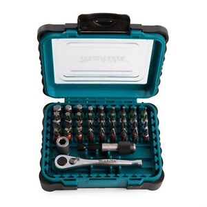 Makita P-79158 39 Piece Ratchet Screwdriver Bit Set Colour Coded Pozi Phillips