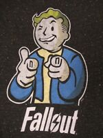 FALLOUT JUMBO VAULT BOY - BLACK LARGE GRAY SPECKLED T-SHIRT C1535