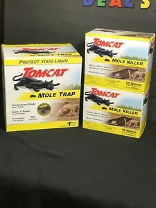 Tomcat Mole Trap - COMBO Kill Moles Without Drawing Blood to Protect Your Lawn
