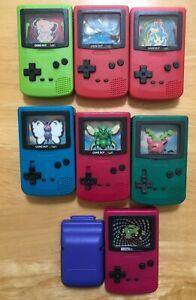 Mixed Lot of SEVEN PARTIAL Pokemon Mini Game Boy Pieces 2000 Burger King