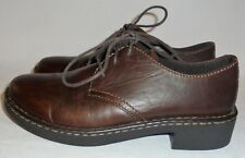 EASTLAND, LADIES BROWN LEATHER OXFORD, SIZE 7 M