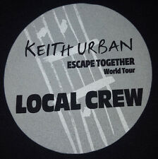 Keith Urban 2009 XL T Shirt Local crew Escape Together World Tour NEW Black