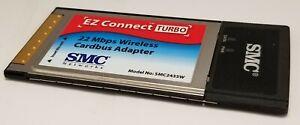 SMC2435W EZ Connect Turbo 11/22 Mbps Auto-Sensing Wireless Cardbus Adapter