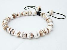 Men's Macrame beaded Bracelet all 8mm Natural Tibetan Agate Dzi STONE beads