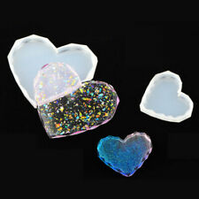 Heart Agate Coaster Resin Casting Mold Silicone Jewelry Making Epoxy Mould Craft
