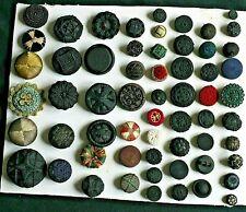 lot de 59 boutons anciens de collection