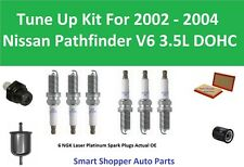 PCV Valve, Air Fuel Oil Filter, Spark Plugs Fit 2002 2003 2004 Nissan Pathfinder