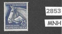 #2853  Very nice MNH stamp / 1941 Blue Ribbon Horse race / Third Reich / Hamburg