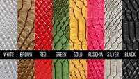 """Embossed Snake Vinyl 54"""" Wide Textured Faux Leather Fabric, Sold by the Yard"""