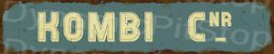 60x12cm Kombi Cnr Rustic Tin Street Sign, Man Cave, Bar, Garage, Vintage, Retro