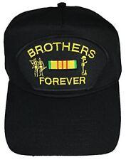 BROTHERS FOREVER W/ VIETNAM SERVICE RIBBON HAT CAP COMBAT CROSS VETERAN