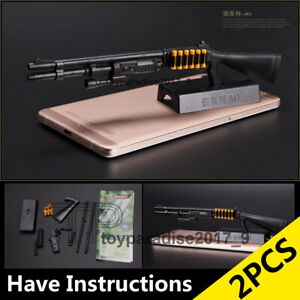 "1/6 1:6 12"" Action Figure 4D Gun Model Shotgun M1 Super90 Terminator SWAT 2PCS"