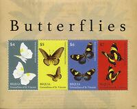 Bequia Gren St Vincent 2019 MNH Butterflies Swallowtail 4v M/S Butterfly Stamps