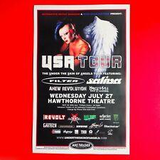 Filter & Saliva 2011 Original 11x17 Concert Promo Poster. Portland Oregon.