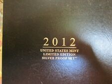 2012  US MINT LIMITED EDITION SILVER PROOF SET   BOX AND COA    ZZ1