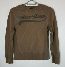 G Star Raw Men's Brown Crew Neck Sweater Pullover Chest Logo Size Large      113