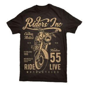 T Shirt Motorcycle Mens RIDE FREE Motorbike Biker Bike Top Racer UK  S-3XL