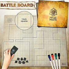 """Dungeons and Dragons Battle Grid DND Game Board 27"""" x 23"""" D&D Dry Erase Mat"""