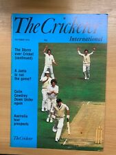 OCT 1978 THE CRICKETER MAGAZINE - THE STORM OVER CRICKET (CONT / D J INSOLE