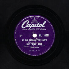 RARE NAT KING COLE 78 TO THE ENDS OF THE EARTH / TOYLAND  UK CAPITOL CL 14661 E-