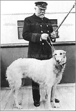 Photo: Captain EJ Smith & His Dog 'Ben'  On Board the RMS Titanic, 1912
